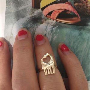 New🦒 Adorable Gold Giraffe midi ring J01A